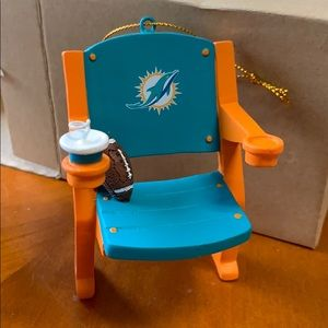 Miami Dolphins Stadium Seat Chair Fan Ornament